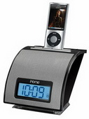 WTD1165 Space Saver Alarm Clock for your iPod  Black