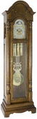 German Hermle Deluxe Triple Chiming Grandfather Clock Cherry Finish - JHE2526