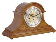 German Hermle Deluxe Black Forest Chiming Keywound Mantel Clock Oak - JHE1272