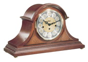 German Hermle Deluxe Black Forest Chiming Keywound Mantel Clock Cherry - JHE1278