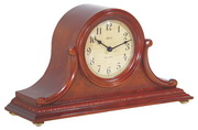 German Hermle Black Forest Chiming Quartz Mantel Clock Cherry - JHE1293