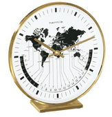 German Hermle Black Forest World Time Desk Clock - JHE1404
