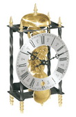German Hermle Deluxe Black Forest Chiming Keywound Mantel Clock with Pendulum - JHE1419