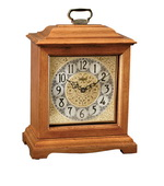 German Hermle Black Forest Chiming Quartz Mantel Clock Oak - JHE1458