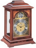 German Hermle Solid Mahogany Wooden 8-day Mantel Clock