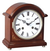 German Hermle Deluxe Mantel Clock Cherry Finish 8 Day Mechanical Strike - JHE1509