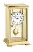 German Hermle Deluxe Mantel Clock Brass Finish Mechanical Movement - JHE1674