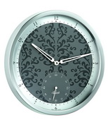 Hermle Stainless Steel Wall Clock Quartz - JHE1815