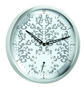 Hermle Stainless Steel Wall Clock Quartz - JHE1818