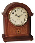 German Hermle Black Forest Chiming Keywound Mantel Clock mahogany - JHE1536