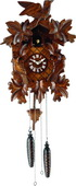 20.5in German Hermle Deluxe Leaves & Birds Black Forest Cuckoo Clock Quartz  - JHE1842