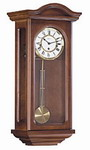 German Hermle Black Forest Chiming Keywound Wall Clock with Pendulum Walnut - JHE1977