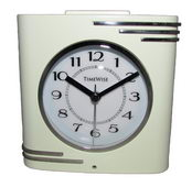 Timewise Cream and Chrome Alarm Clock - KTW5033
