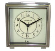 Timewise Brushed Silver Metal Case Alarm Clock - KTW5036