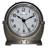Timewise Brushed Silver Metal Case Alarm Clock
