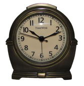 Timewise Antique Brass Metal Case Alarm Clock - KTW5045
