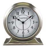 Timewise Brushed Silver Metal Case Alarm Clock - KTW5048