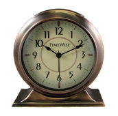 Timewise Antique Copper Metal Case Alarm Clock - KTW5051
