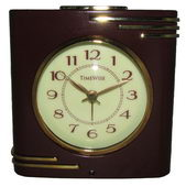 Timewise Brown and Gold Alarm Clock - KTW5054