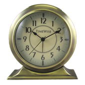 Timewise Brushed Gold  Metal Case Alarm Clock - KTW5057