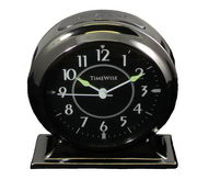 Timewise Gunmetal Black  Metal Case Alarm Clock