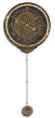 18in Designer Weathered Wall Clock - LUT1070