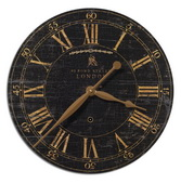 18in Designer Crackled Wall Clock - LUT1284