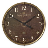 30in Designer Crackled Wall Clock - LUT1092