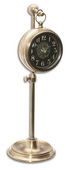 4in Aqua Pear Pocket Watch Table Clock  - LUT1320