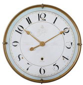 31.5in Designer Crackled Wall Clock - LUT6382