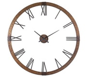 Aqua Pear 60.25in Clock Hammered Copper Sheeting Light Gray Wash & Aged Black  - LUT1022