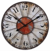 29.375in Designer Crackled Wall Clock  - LUT1174