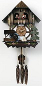 17in Moving Waterwheel & Tree & Music German Black Forest Cuckoo Clock 1 Day Chalet - NVC6146
