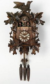 21in Moving Birds Feed Nest & Music German Black Forest Cuckoo Clock 1 Day Music - NVC6170