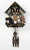 17in Moving Wood Chopper German Black Forest Cuckoo Clock 1 Day Music - NVC6125