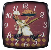 9in Busy Chef Wall Clock - MEK2026