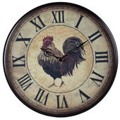 9in Rooster Wall Clock - MEK2028