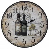 13in Wine Bottles Wall Clock - MEK2036
