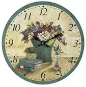 13in Bouquet Wall Clock - MEK2038