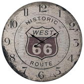 24in Route 66 Wall Clock - MEK2042