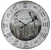 24in New York, New York Wall Clock - MEK2044