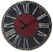 23.6in Black And Red Printed Wall Clock - MEK2046