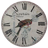 23.6in Robin On Branch Printed Wall Clock - MEK2048