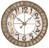 36in Round Metal Outdoor Wall Clock - MEK2064
