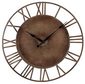 31.5in Metal Roman Numeral Outdoor Wall Clock - MEK2066