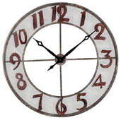 31in Metal Outdoor Wall Clock - MEK2068