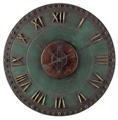 24in Metal Roman Numeral Outdoor Wall Clock - MEK2070