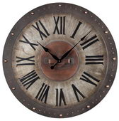 32in Metal Roman Numeral Outdoor Wall Clock - MEK2072