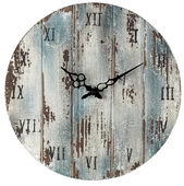 16in Wooden  Roman Numeral Outdoor Wall Clock - MEK2078