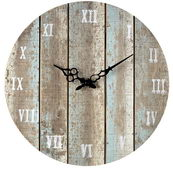 16in Wooden Roman Numeral Outdoor Wall Clock